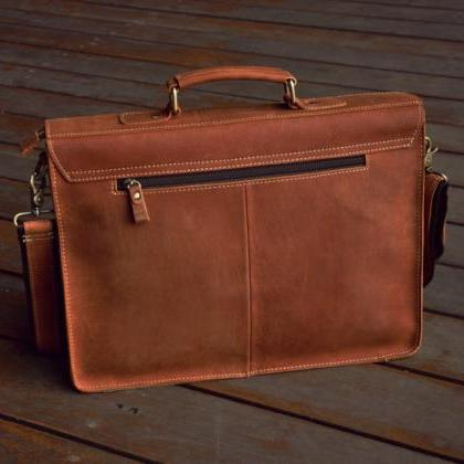 Men's Handmade Leather Briefcase 15..
