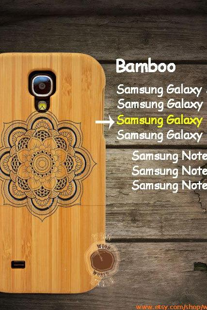 Mandala Samsung galaxy S6 S5 S4 S3 wood case,Laser Engraved Genuine Samsung Galaxy Note 4/3/2 phone case,Bamboo cherry walnut S4004